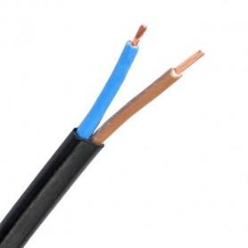 OMYP 2x0,5 Przewód elektryczny czarny płaski / 100m