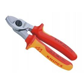 Nożyce do cięcia kabli, izolowane VDE 1000V - KNIPEX 95 16 165