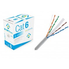 Kabel U/UTP kat.6 PVC drut 4x2x0,57 ALANTEC